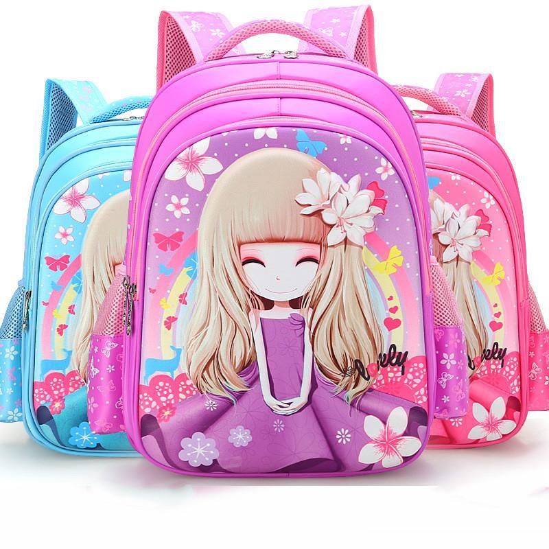 Children School Bags For Girls Printing Backpack Kids Orthopedic ... 93f735d7252c2