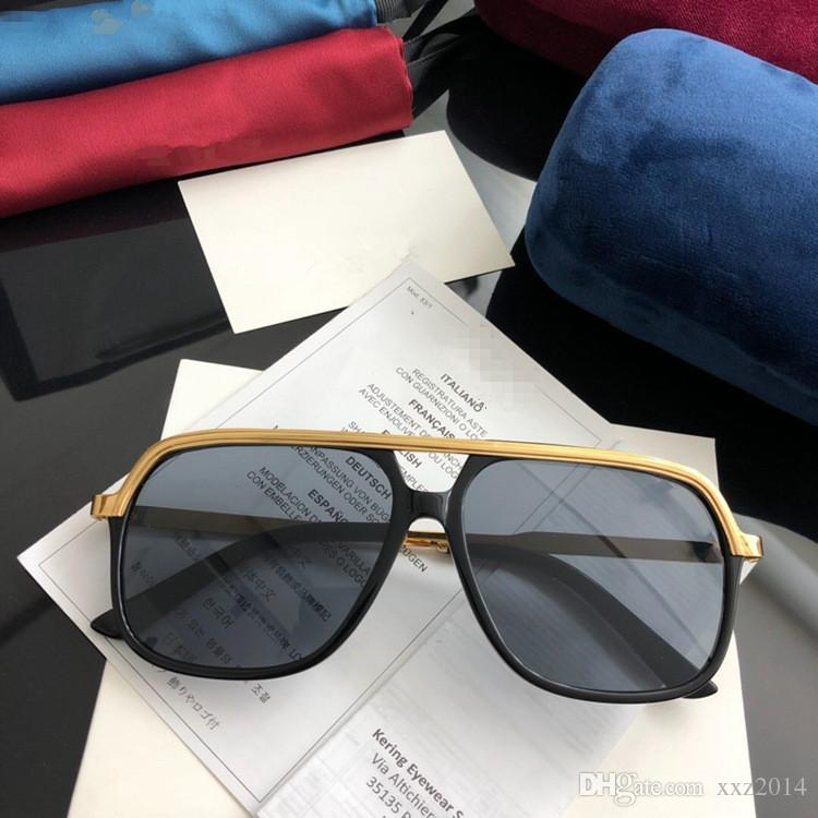 New Star-style unisex oversized square sporty sunglasses GG0200S for men women UV400 fashion euro-am metal glasse full-set case freeshipping