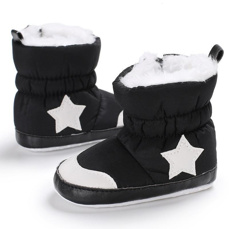 703a2fd40 Fashion Newborn Baby Boots Winter Infants Warm Shoes Boy Girl Five ...