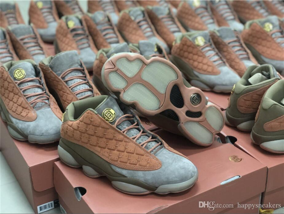 f981fa3a40c CLOT X 13 Low Sneakers Terra Cotta Warrior 13S Basketball Shoes Grey ...