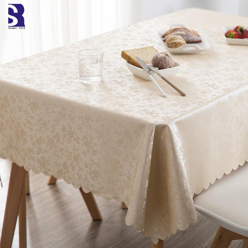 Merveilleux SunnyRain 1 Piece PVC Oilproof Tablecloth Waterproof Table Cloth For Dining  Table Rectangle Cover Round Tablecloths
