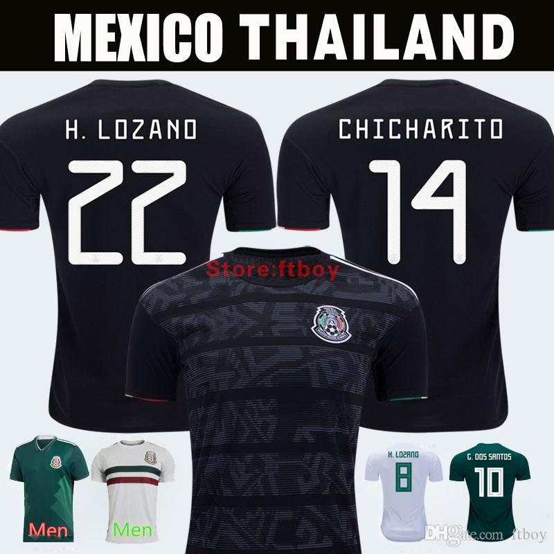 3aed3e72950 2019 Mexico 2019 GOLD CUP Black KIT Soccer Jerseys 2018 World Cup Home Away  CHICHARITO Camisetas De Futbol C.VELA H.LOZANO G.DOS SANTOS Shirts From  Ftboy