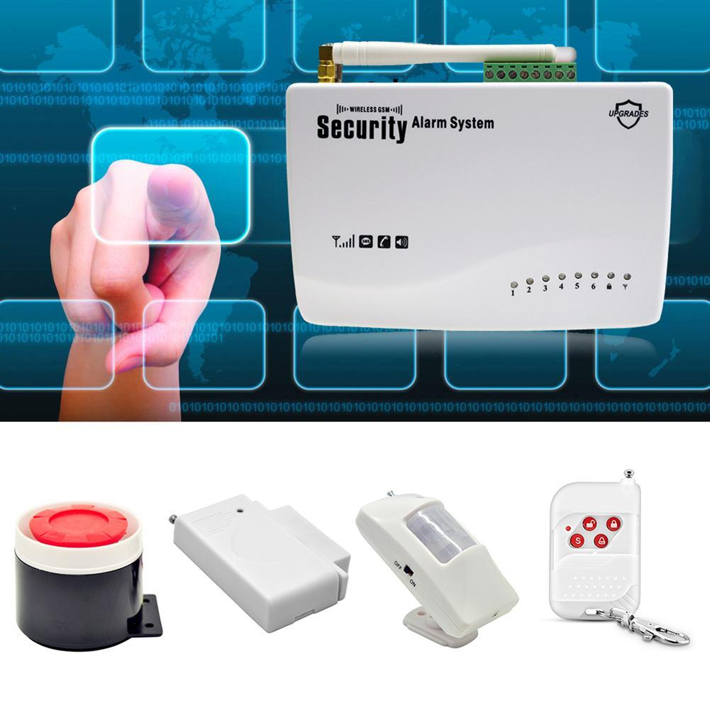 Wireless GSM Home Security Auto Dialer SMS SIM Call 433MHz Burglar Alarm  System 2019