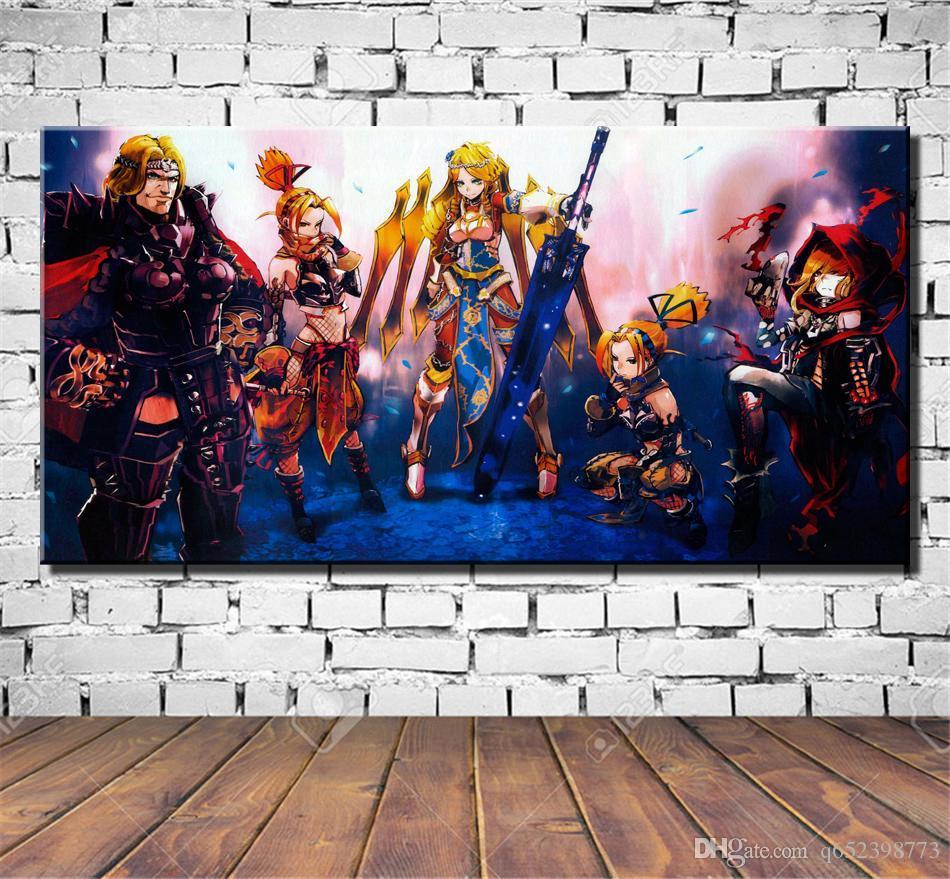 Mavi Gül Overlord Hd Tuval Baskı Yeni Ev Dekorasyon Sanat Boyama çerçevesiz çerçeveli Marvel Kötüler
