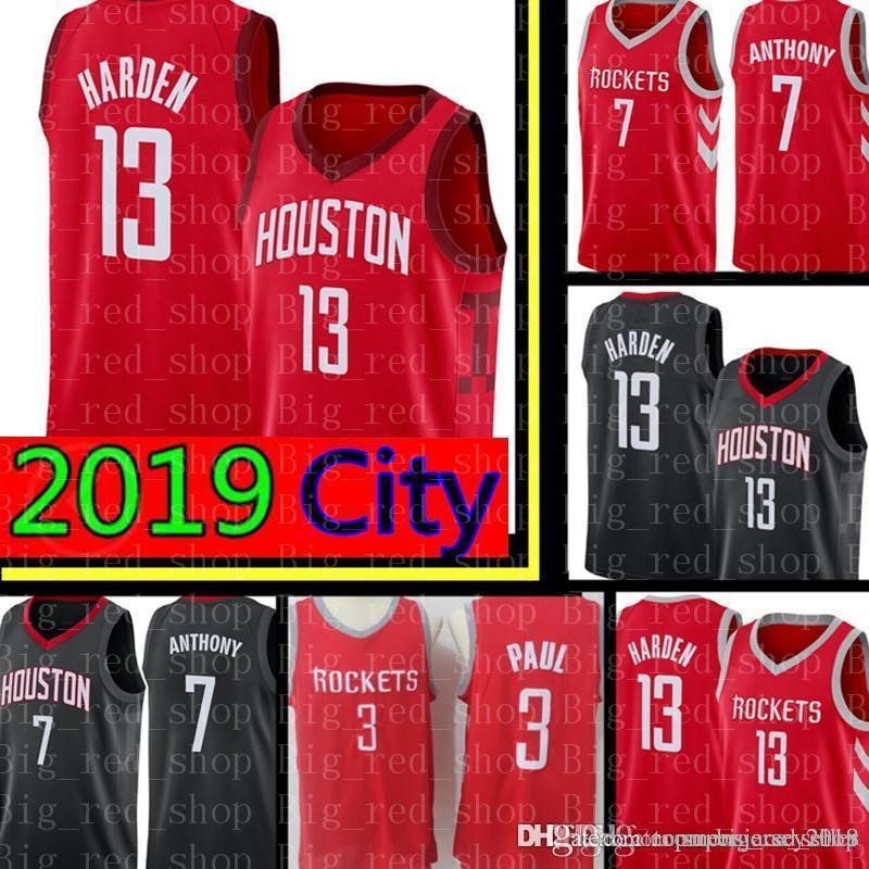 Soldes Paul Basketball Cher Pas Houston Carmelo City 13 Harden Rockets 2019 3 New 7 Jerseys Jersey Anthony Chris James OZTPXiuk