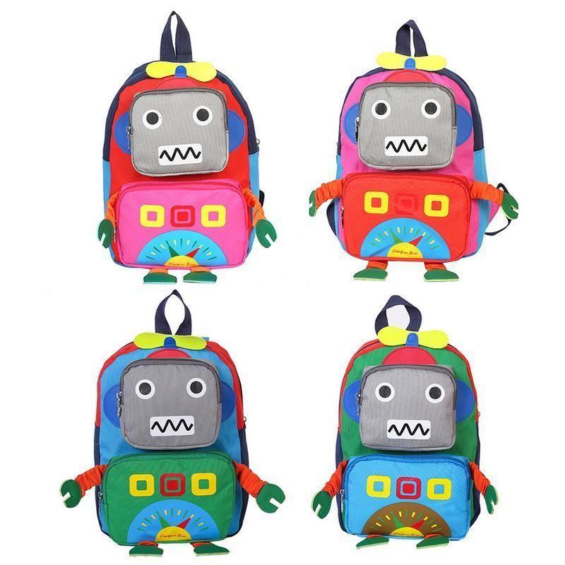 Cartoon 3d Robot Shape Kids Handbag Baby Child Cute School Travel Bag Kindergarten Cool Boys Small Messenger Bag Crossbody Bags