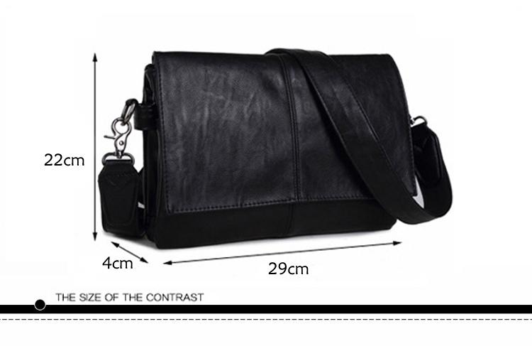 2018 New Messenger Bag Men PU Leather Men's shoulder bags male Casual Zipper Crossbody Bags clutch bag for men handbags
