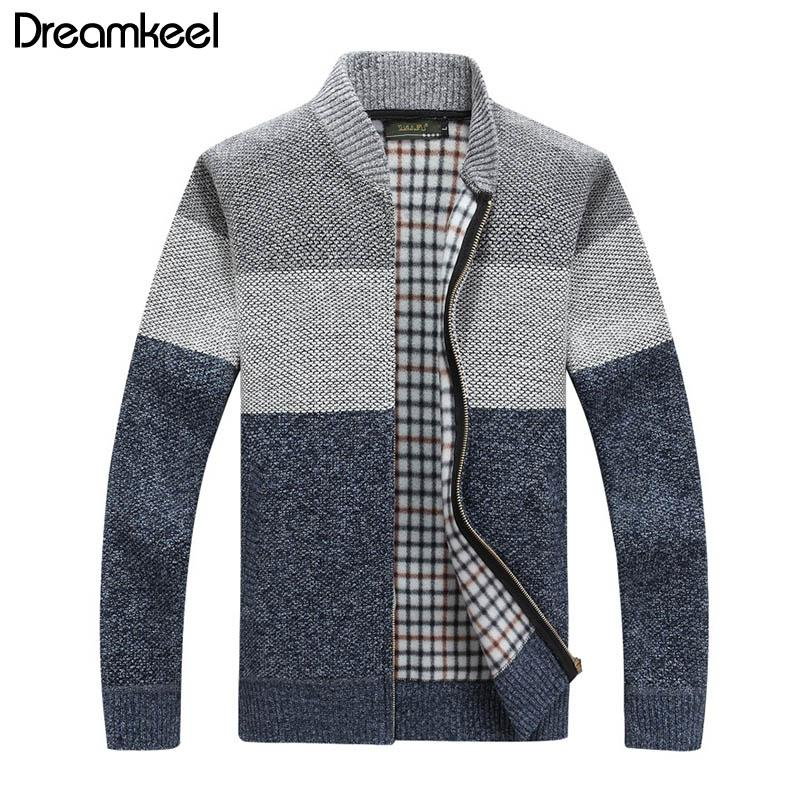 2019 Outono Inverno Sweater Men Casual Blusa de frio Masculino Cardigan Men Knitwear Sweater Jacket Sweatercoat Y