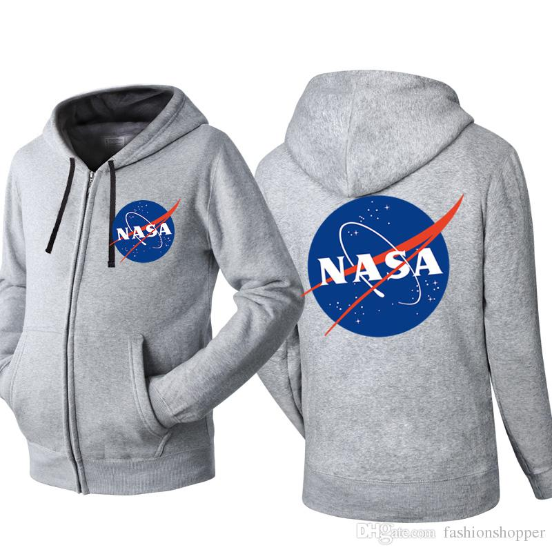 355de3292 2019 Nasa Hip Hop Overcoat Sweatshirt For Men Women Unisex Hoodies Zipper  Leisure Sport Jacket Coat Skateboard Streetwear From Fashionshopper, ...