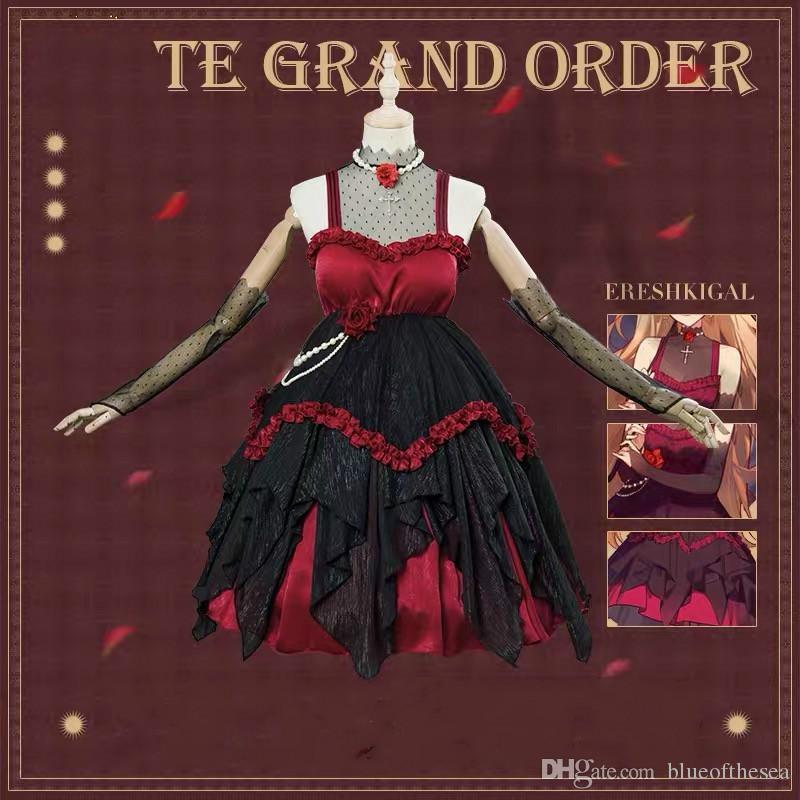 2e281d109e894 Anime Kader Grand sipariş Ereshkigal Ay Kız Arkadaşı Lolita Elbise ...