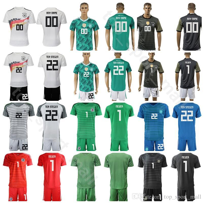 b8e5b340c 2019 Germany Goalkeeper GK 1 Manuel Neuer Jersey Men Soccer Set 22 TER  STEGEN 12 TRAPP 1 Oliver Kahn Football Shirt Kits Uniform From  Top sport mall