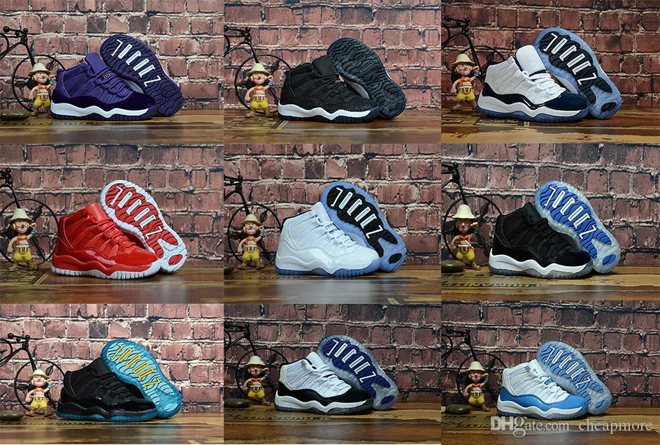 e00abf2c402bd1 New Kids 11s Low Space Jam Kids Sports Basketball Shoes GS Children ...
