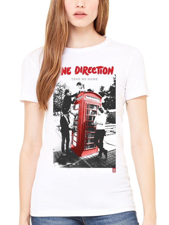 Official One Direction Take Me Home Phone Box Women s T-Shirt 1D Harry Liam  Band Men Women Unisex Fashion tshirt Free Shipping black