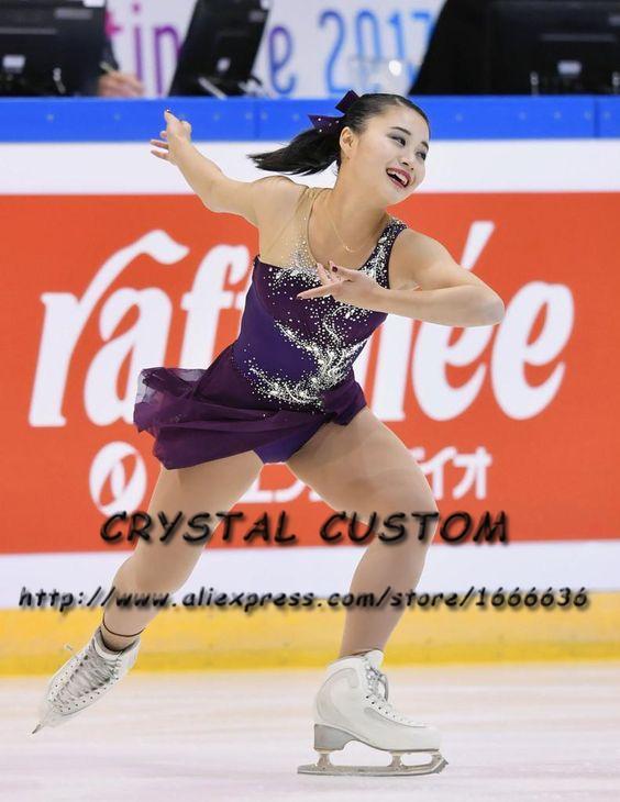 dc9c2d2f0 Vestido de patinaje artístico a medida para niñas Nueva marca Vestidos de  patinaje sobre hielo para la competencia DR4822