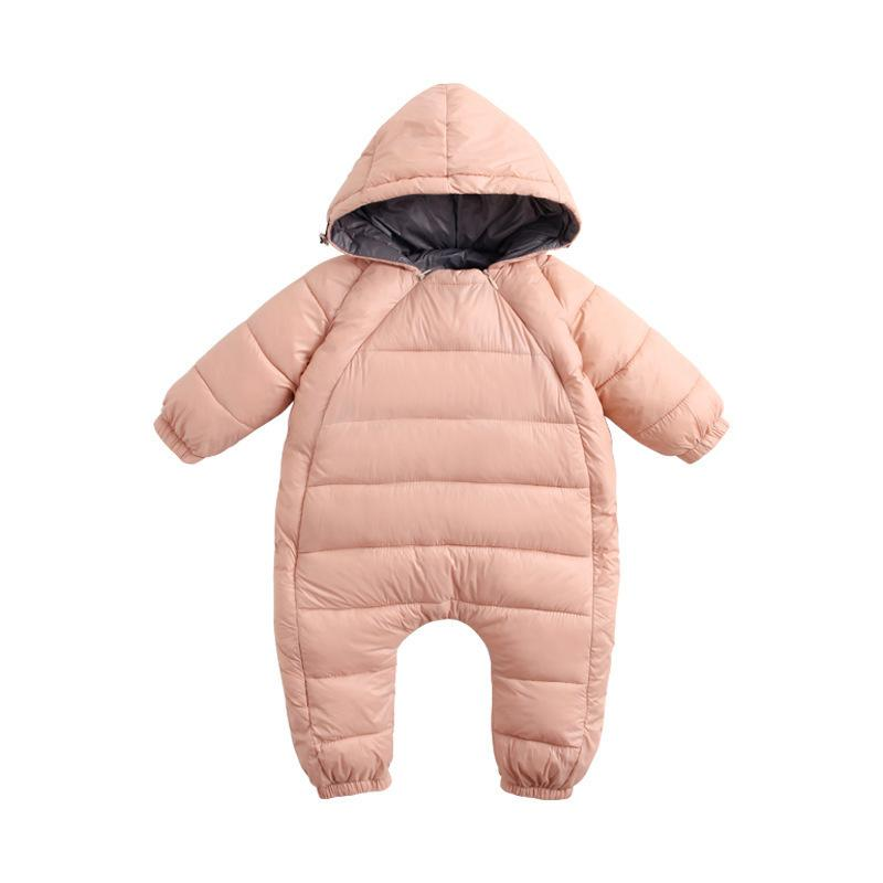 50f356e8ff95 Winter Warm Kids Jumpsuit Children Zipper Infant Puffer Overall ...