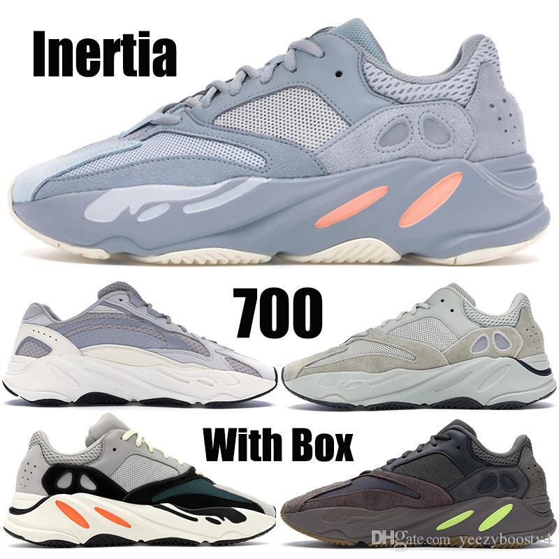 44a6632fdb5 Acheter 2019 Statique 700 Wave Runner Chaussures De Course Solide Gris  Nouveau 700 V2 Top Hommes Femmes Designer Chaussures Sport Baskets Avec  Taille De La ...