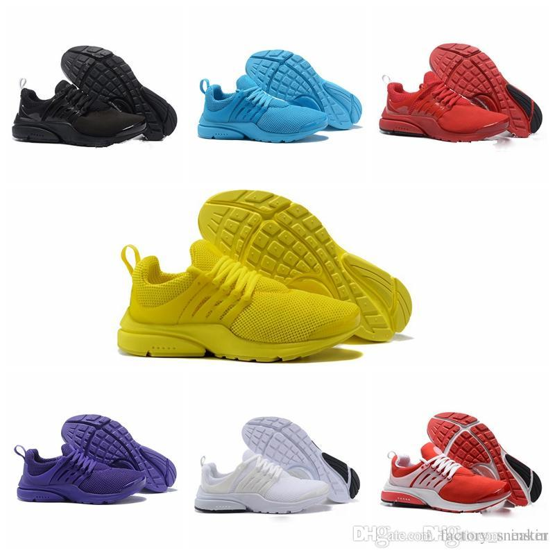 325ceaa3817496 2019 2018 Hot Presto 5 Ultra BR QS Black White All Yellow Purple Red Grey Running  Shoes For Women Men Top Prestos V Casual Sports Sneakers 36 46 From ...