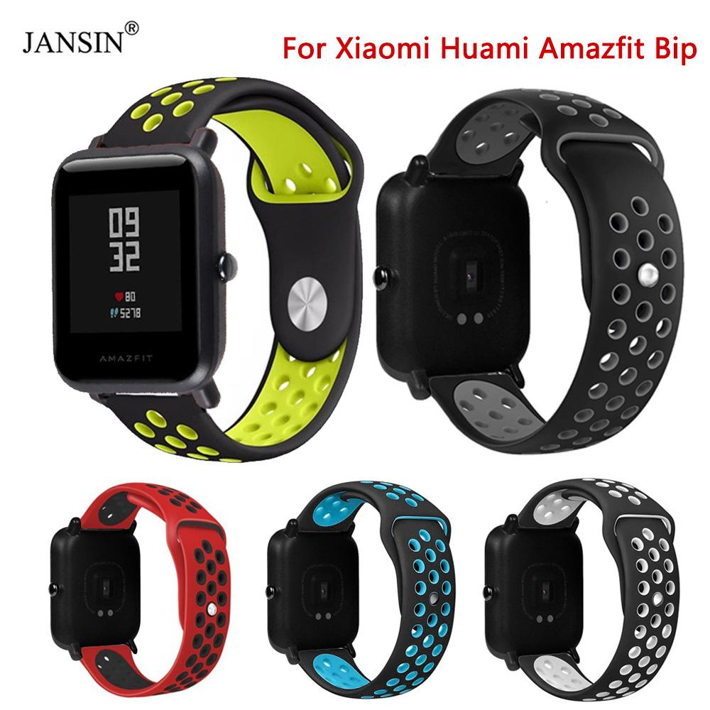 Silicone Smart Accessories Wristband Straps For Xiaomi Huami Amazfit Bip Youth Double Colorful Replacement Smart Watchband 20mm Sale Price Back To Search Resultswatches