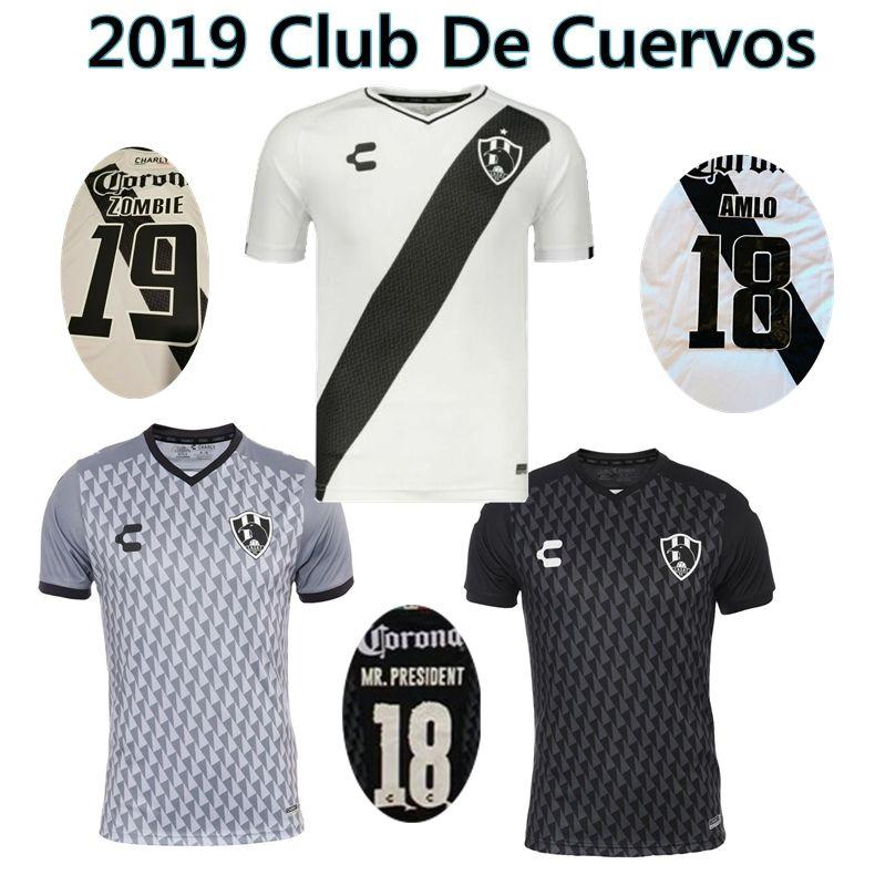 9aa782de121 2019 Club De Cuervos Soccer Jersey 19 20 Cuervos Home Away ZOMBIE ...