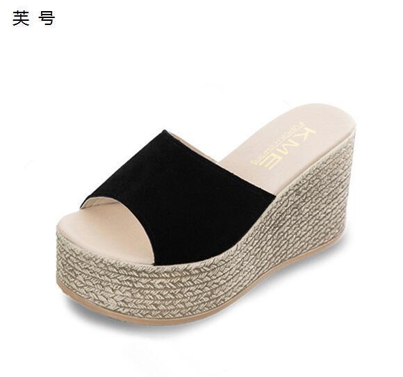 Estate donna scarpe piattaforma pantofole da bagno Froid tirer tacchi zoccoli spiaggia infradito pantofole tacco alto le donne Eva scarpe da donna