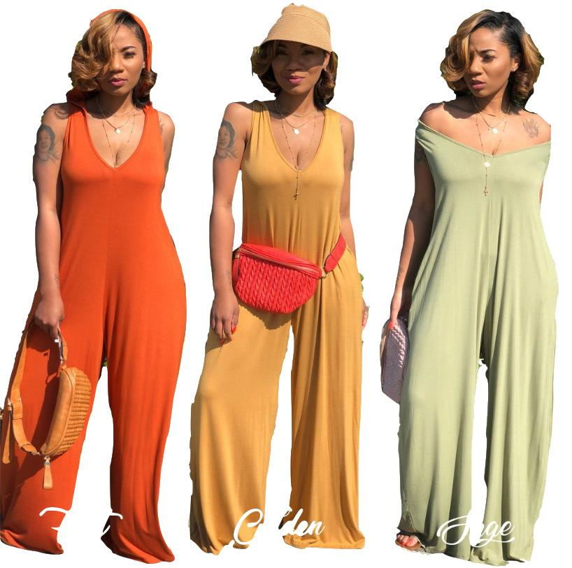 women designer maxi dresses new explosion models knitted hooded wide-leg pants Jumpsuit clothes dresses Sexy short dress