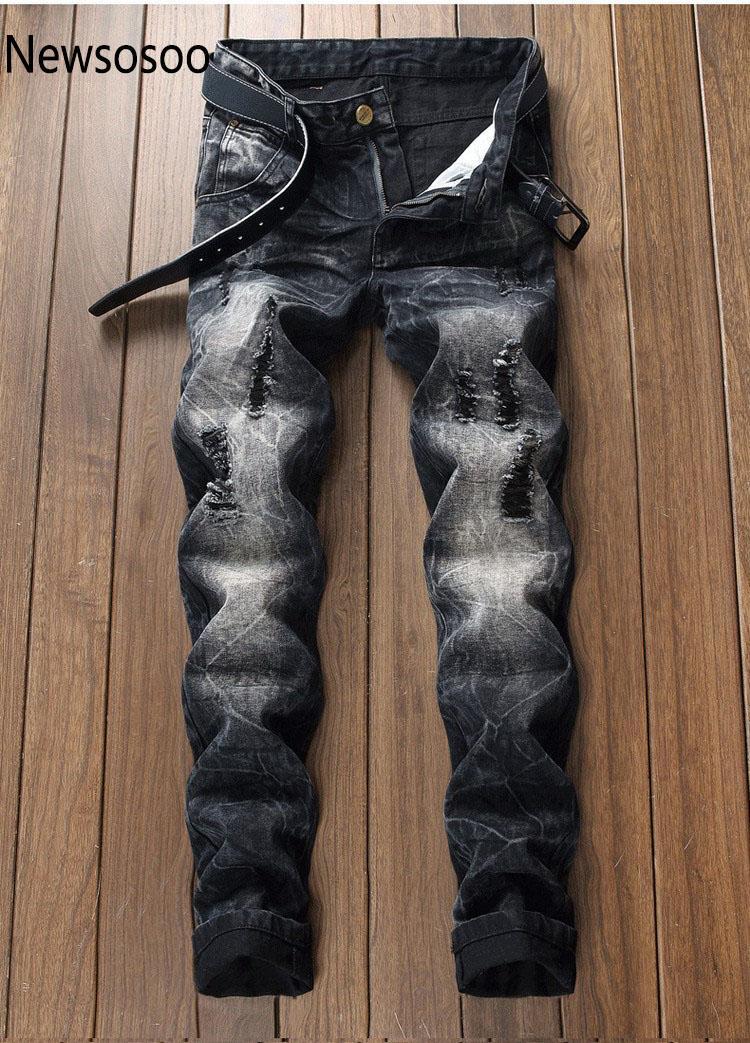 90a18983e Estilo americano europeo marca de moda para hombres pantalones vaqueros de  los hombres pantalones de mezclilla ocasionales delgados rectos con ...