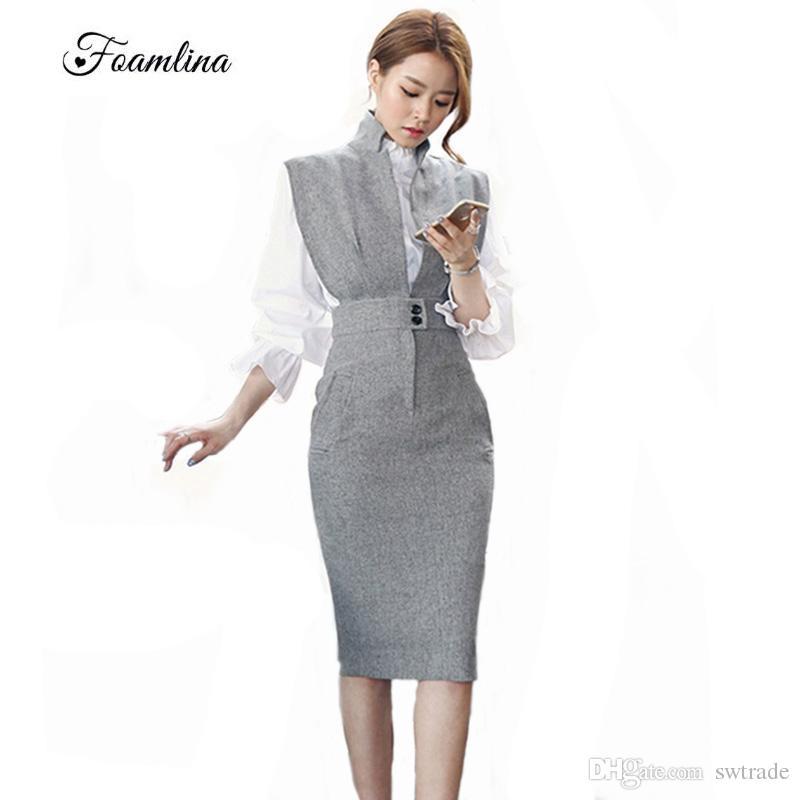 029c0534bfa3 2019 Foamlina Elegant Women Bodycon Dress Vestidos Deep V Neck ...