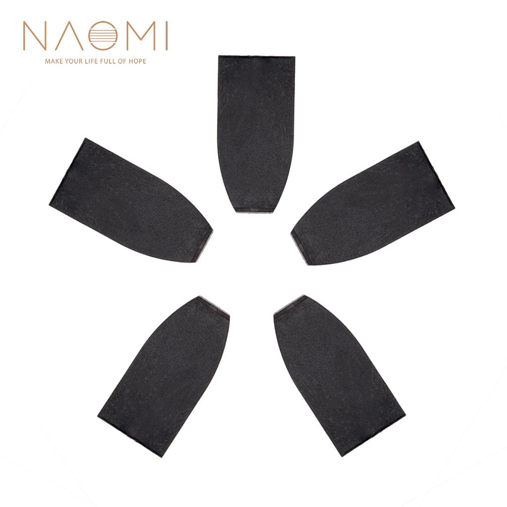 Naomi Violin 5 Pcs Bass Bow Tips Plastic For Bass Black Bass Bow Tip Violin Family Parts Accessories New Stringed Instruments