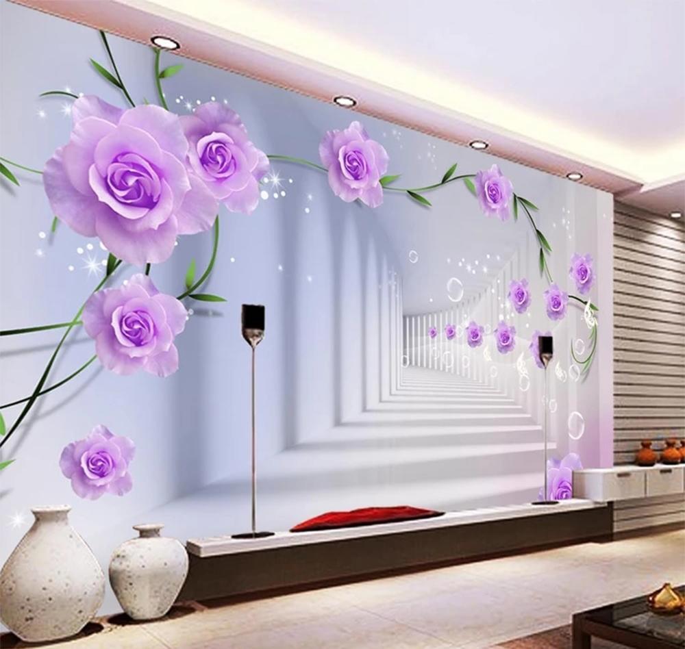 Acquista Telefono 3d Wallpaper Rosa Rosa 3d Spazio Esteso Soggiorno
