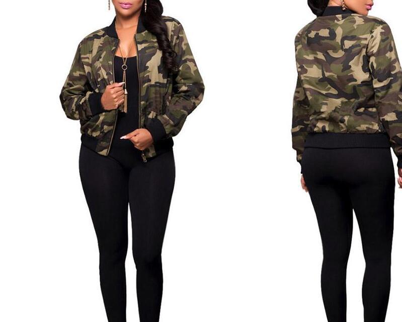 Women Camo Jackets Fashion Coat Army Green Women S Bomber Jacket Coat  Female Summer Overcoat Tops Air Foce 1 Casual Coat Waterproof Jackets  Womens Jackets ... aba6494362