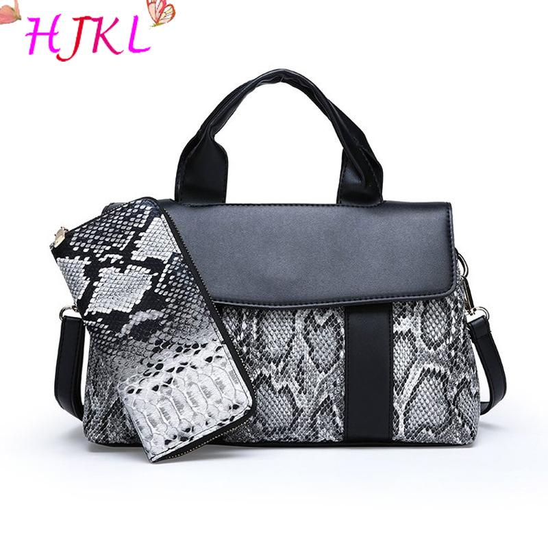 HJKL New Set Serpentine Handbags Women Bags 2018 Designer Shoulder Bags  Ladies Leather Tote Women Clutch And Purses Sac Luxury Handbags Leather  Handbag From ... c0eb8b5919ea3