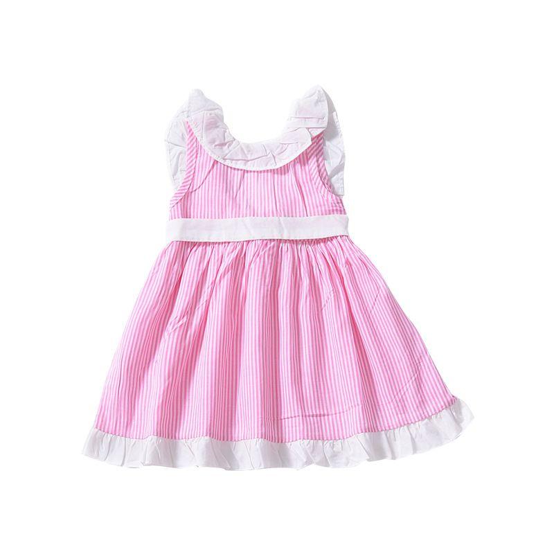 fa7c7abe73482 Acheter INS Bébé Filles Bow Backless Robe Enfants Stripe Robes De Princesse  2019 Été Boutique De Mode Pour Enfants Vêtements C5776 De  5.54 Du  Hltrading ...