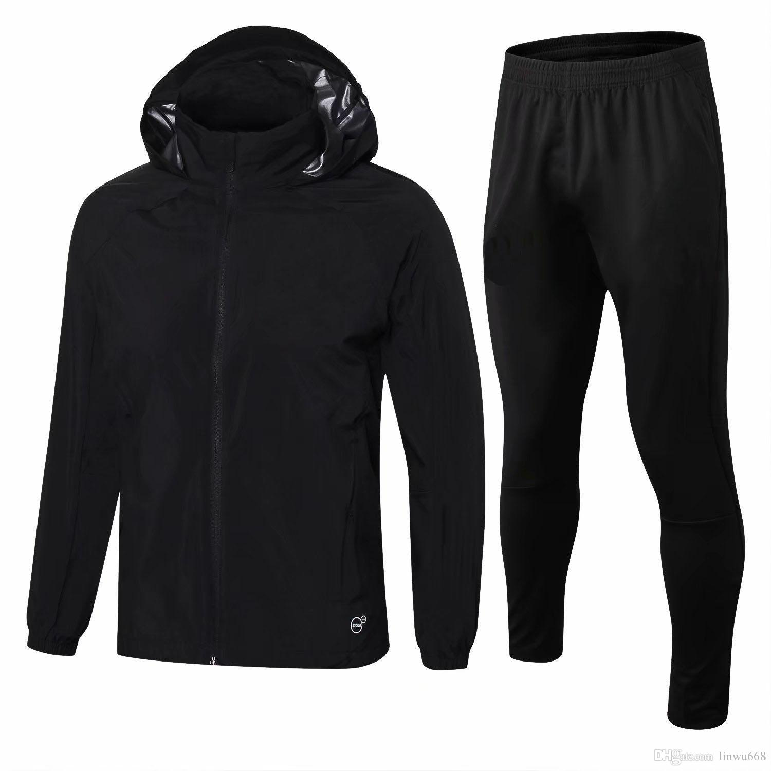 new concept 6f348 038f2 2018 AC milan Dust coat jacket with caps tracksuit sweater jogging jacket  training suit BACCA KAKA football tracksuits SUSO sweater
