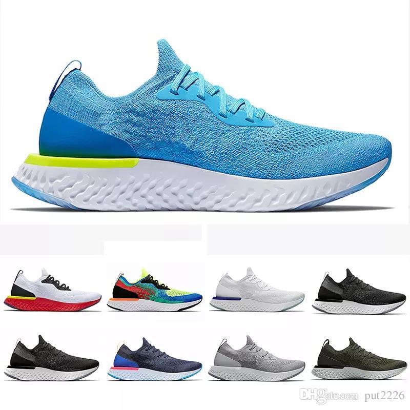 big sale f47c4 40311 Compre 2019 Nike Epic React Flyknit Shoes Venta Caliente Epic React Instant  Go Fly Zapatos Casuales Mujeres Moda Para Hombre De Lujo Diseñador Negro  Blanco ...