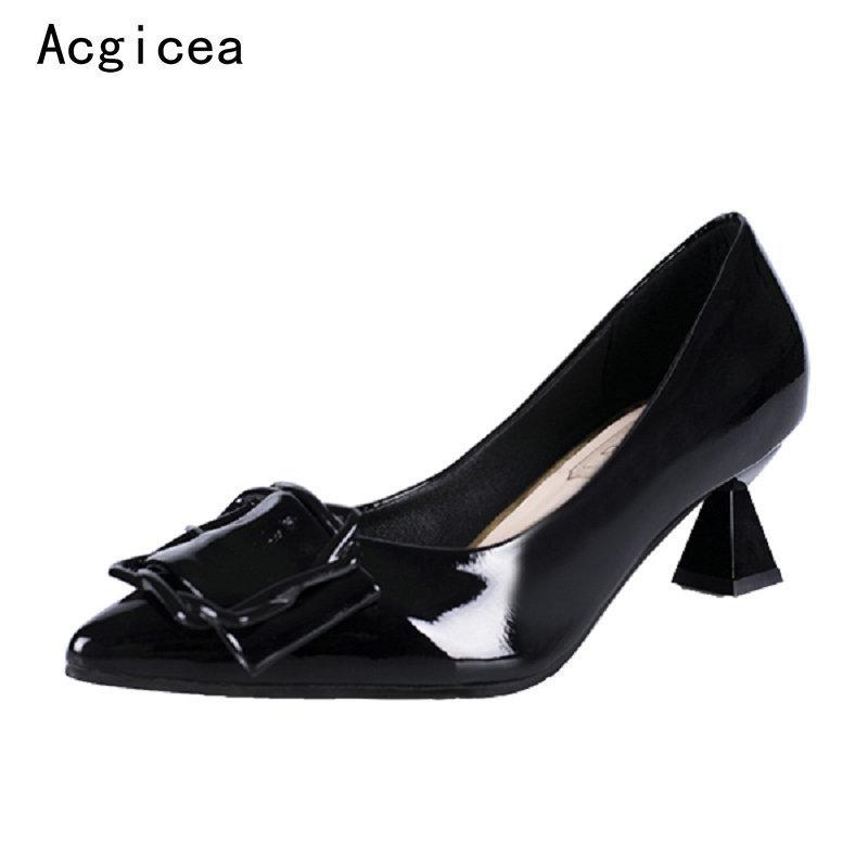 c563c2d4c9 Compre Designer Dress Shoes Tamanho 34 39 2019 Novas Mulheres Bombas  Maduras De Salto Alto Vestido Formal Mulher Verão Escritório Senhoras Rasa  Calçado ...