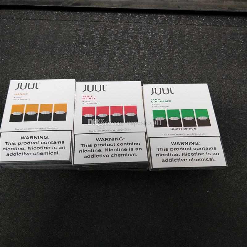 Best Portable Vaporizer 2020 2020 Best Che JUUL Pods New Package Clone 8 Flavors Mango Cool