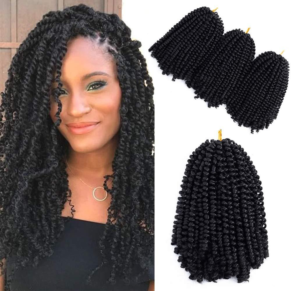 2019 2018 New Style 3packs 8inch Spring Twist Crochet Braids Hair