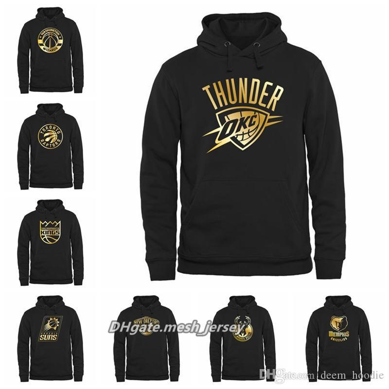 ea86976478c Men Wizards Raptors King Suns Thunder Pelicans Bucks Grizzlies Gold ...