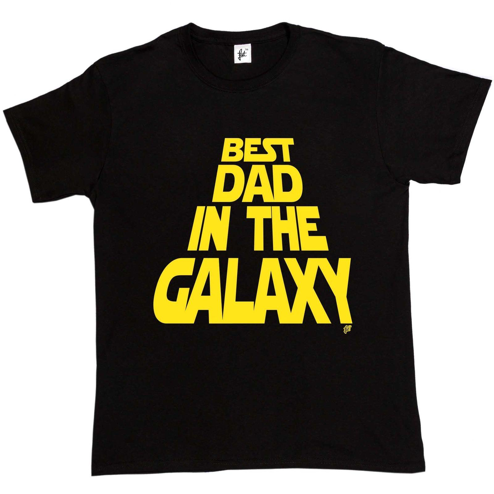 64ee7c1ff Best Dad In The Galaxy Star Space Rolling Credits Mens T-Shirt Newest Top  Tees,Fashion Style Men Tee,100% Cotton Classic tee
