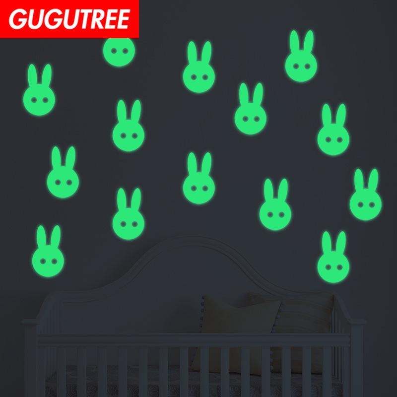 Decorate Home Diy rabbit animal cartoon art glow wall sticker decoration Decals mural painting Removable Decor Wallpaper G-633