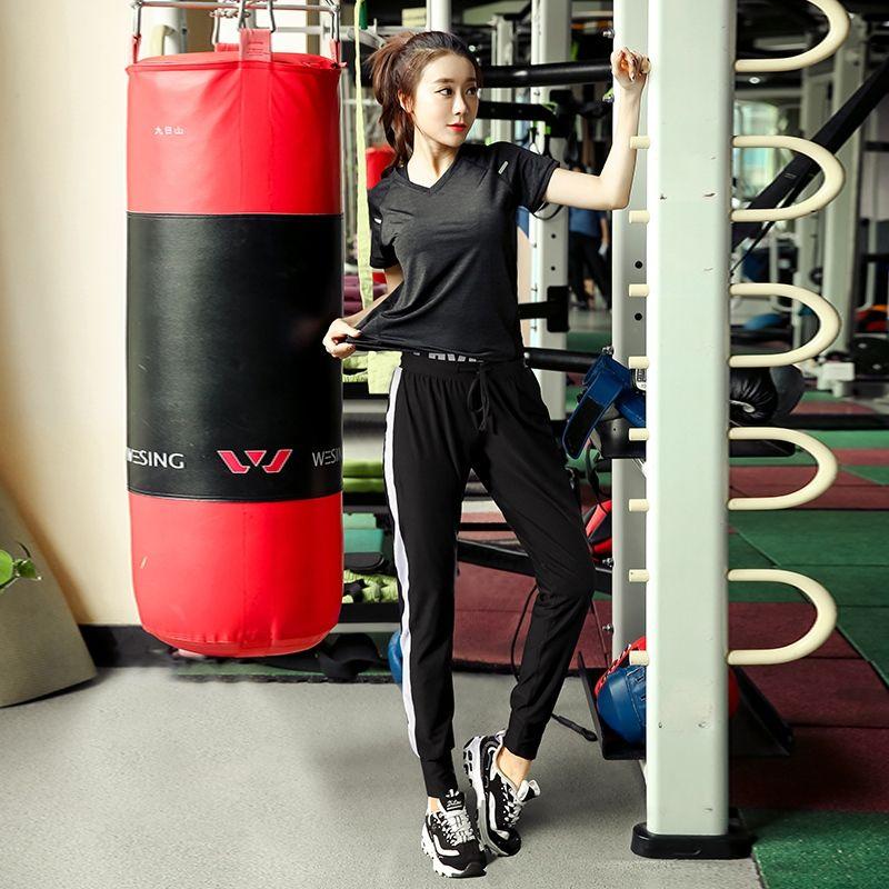 44fd63f0fb5c5 Plus Size Women Pro Fitness Set Leggings Top Workout Clothing Workout Gym  Sport Run Girl Slim Yoga Exercise Tight Bodybuilding #776428