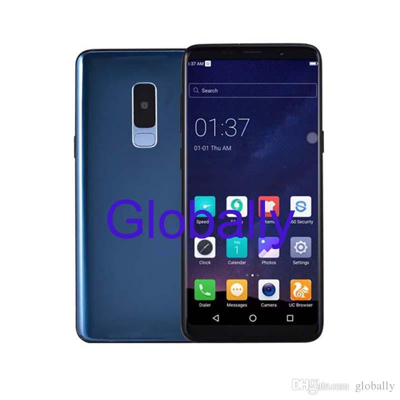 Goophone S9 + S10 Plus 1GB RAM 8GB Rom 6 3 Pulgadas Smartphone muestra Fake  4G Real 3G Net Face ID Huella digital desbloqueada Teléfono móvil
