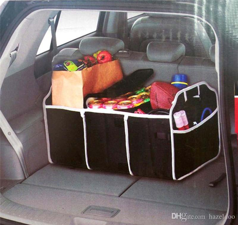 Car Trunk Storage >> 2019 Collapsible Black Car Trunk Organizer Toys Food Storage Truck Cargo Container Bags Box Car Stowing Styling Auto Accessories