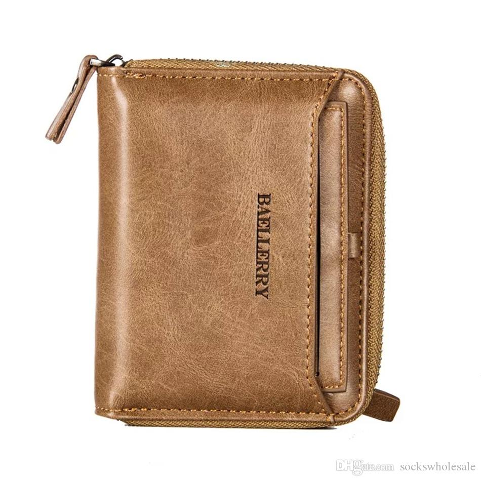 75dacfe5db2f Zipper Men Wallet New L Bag Small Wallet Men Money Purse Coin Bag Short  Designer Male Wallet Card Holder Slim Purse Money Bag Leather Bags Hobo  Wallets From ...