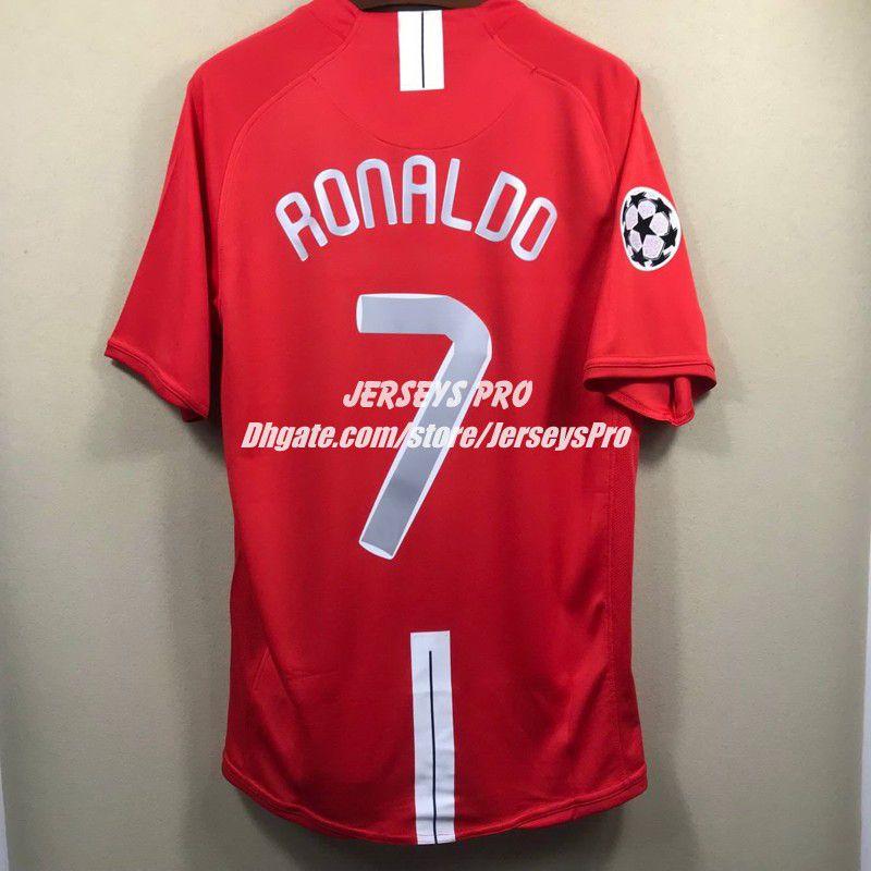 Old Trafford Cristiano 2007 2008 07 08 Ronaldo Champions League Final Home  Retro Soccer Jerseys Camiseta Football Shirts Maillot De Foot UK 2019 From  ... 191e1da7226