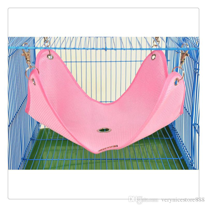 Pet Supplies Hamster Hanging Bed Small Pet Summer Mesh Breathable Cage Hammock Swing with Breathable for Ferret Totoro