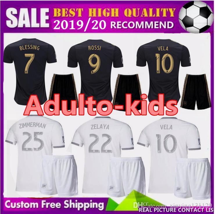 8278aeebfe7 19 20 La Men Kids Los Angeles Fc Child LAFC Soccer Jerseys Kits 2019 ...