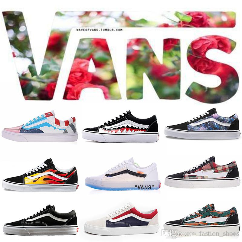 840627ae0f55 2019 Designer Old Skool Men Women Casual Shoes Rock Flame Yacht Club  Sharktooth Peanuts Skateboard Mens Trainer Sports Running Shoe Sneakers  From ...