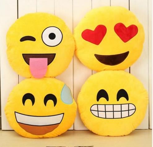 32cm Emoji Pillow Smiley Face Pillows Decorative Cushions For Sofa Cushions  Decoration Bed Cartoon Toy Doll A40 ANI-220