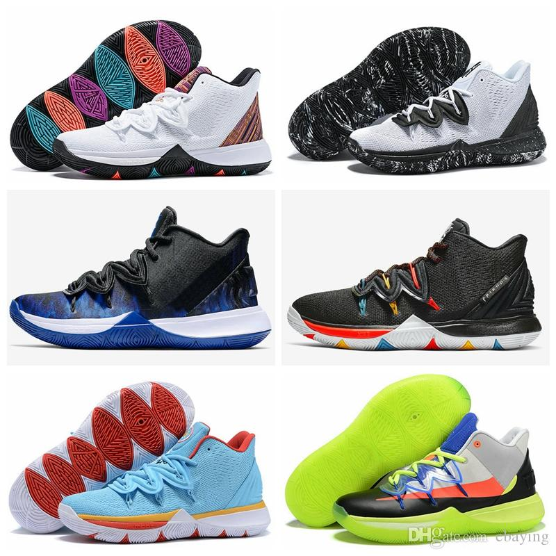 66c9991520c6 High Quality Kyrie V Duke Men Basketball Shoes Trainers Irving 5 ROKIT  Little Mountain Oreo Friends BHM Irish Sports Sneakers Size 40 46 Designer  Shoes ...